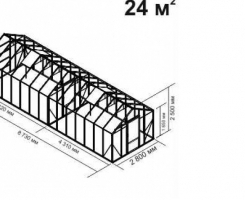Теплица Ботаник стандарт  24м2