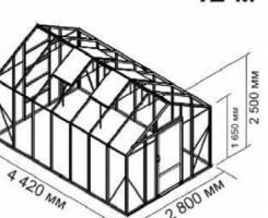 Теплица Ботаник стандарт 12м2